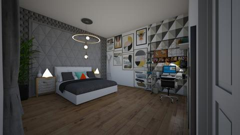 geometry - Bedroom - by bluedolphin12