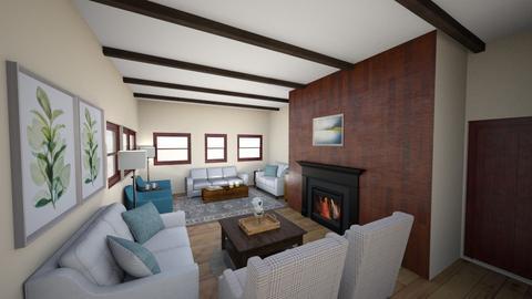 SH Great Room Option 1 - Living room  - by ocsroom