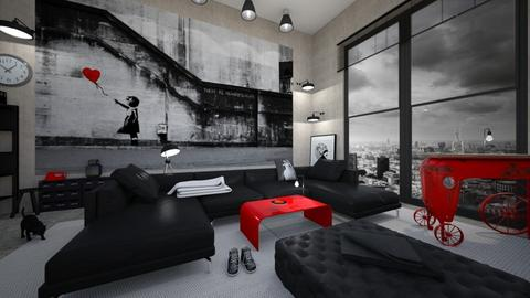 Banksy - Living room - by Timea Fischer