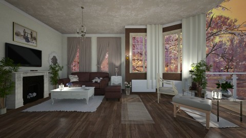 Small house Big view - Classic - Living room  - by Slavicdoll