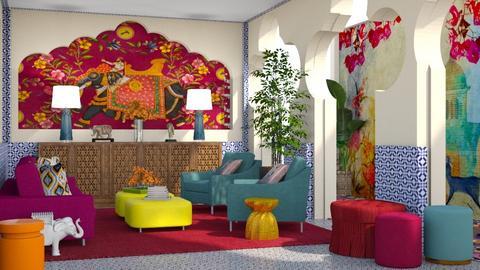 India Palette Inspired LR - Living room  - by jjp513