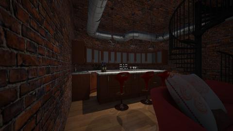 bar - Rustic - Kitchen  - by Stellasmith