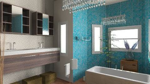 relaxing bathroom - Glamour - Bathroom  - by zsofitoszegi1