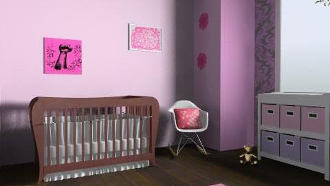 baby girl nursery  - Modern - Kids room  - by stasacl21