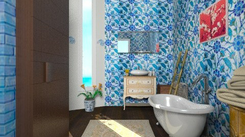 A blue hat for a blue day - Eclectic - Bathroom  - by mrschicken