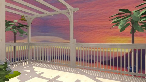 Deck at sunset - Classic - Garden  - by Shelley0514