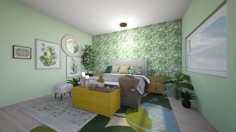 Green Bedroom - Bedroom  - by Intricate