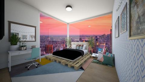 NYC City bedroom - Modern - Bedroom  - by Pheebs09