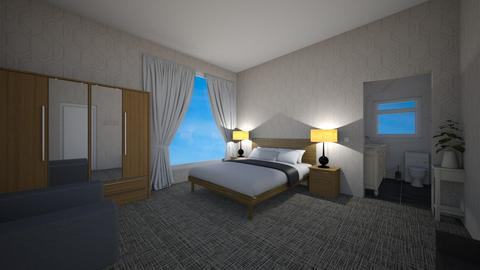 Simple Square Hotel Room - Modern - Bedroom  - by Mazzz02