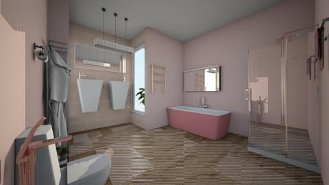 banheiro feminino - Glamour - Bathroom - by kelly lucena