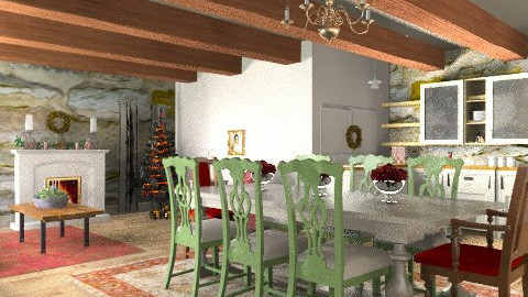 tuscan  cottage  christmas - Rustic - by mywishlr