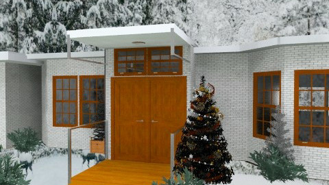 House at Christmas - Modern - Garden  - by Bibiche