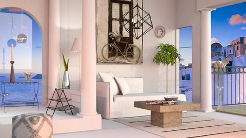 Modern Greek Living - Modern - Living room  - by Sally Simpson