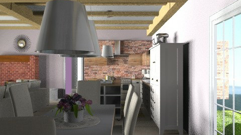 rustic open plan - dining - Rustic - by ovchicha