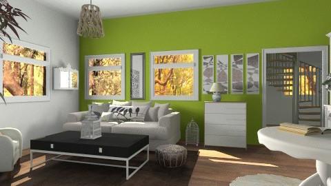 White - Classic - Living room  - by hetregent