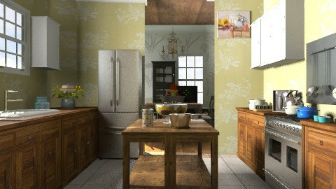 Galley kitchen - Country - Kitchen  - by sarahl