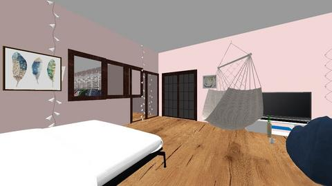 bedroom for design class  - Bedroom  - by volleyballisthelife8