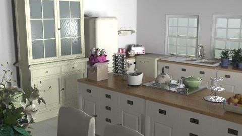 cottage kitchen - Country - Kitchen  - by benandlinz