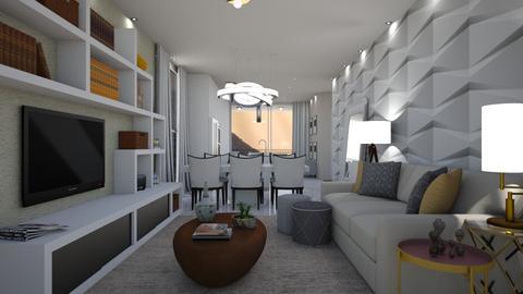 Hickory - Living room - by aletamahi