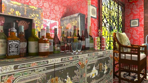 The Little Chinese Bar - Classic - Living room  - by Bibiche