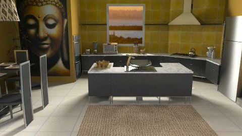 Cooking with Buddah - Modern - Kitchen  - by kishwick