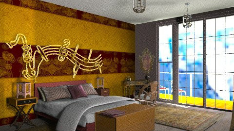 High rise apartment (Jazz) - Eclectic - Bedroom  - by mrschicken