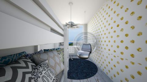 Sara bedroom - Bedroom - by agafrutek