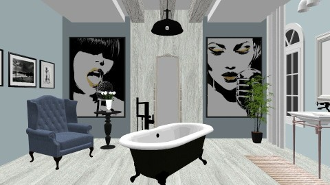 Industrial - Vintage - Bathroom  - by sluciasantana