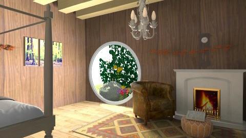 Hobbit Hidey Hole - Rustic - Living room  - by Izzydizzy123