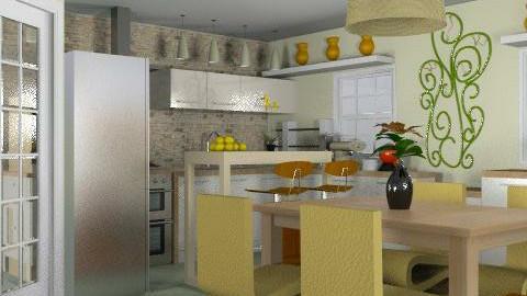 Kitchen#1 - Modern - Kitchen  - by liling