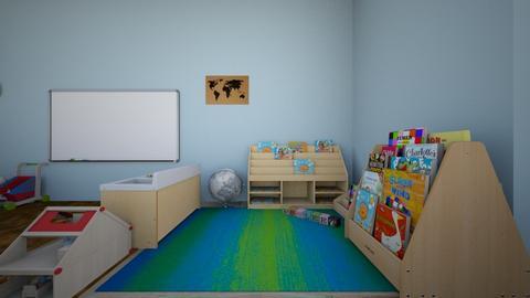 4 y class library - Kids room  - by Claraespe