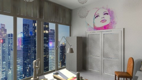 NY Heart - Eclectic - by Alwa Design Studio