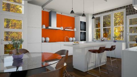 Autumn Kitchen - Modern - Kitchen  - by channing4