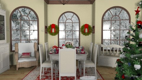 Country christmas - Country - Living room  - by milyca8