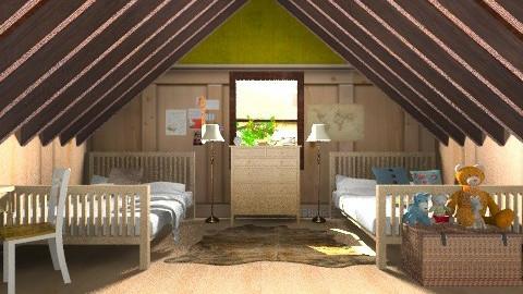 In the Attic - Vintage - Bedroom  - by yourjieee