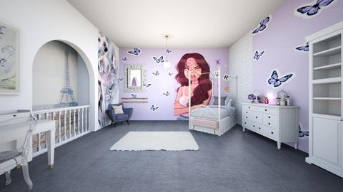 purpleballetparislivroom - Bedroom  - by tahliawaters