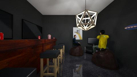 gaming mancave - Modern - Living room  - by drip41