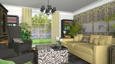 Zebra - Eclectic - Living room  - by Theadora