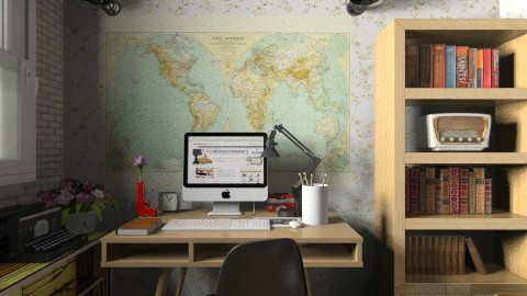 Retro Home Office - Retro - Office  - by champorado