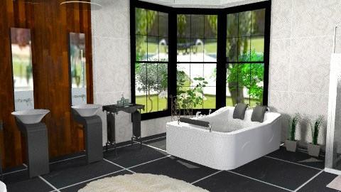 black bathroom - Modern - Bathroom  - by danielle_figueiredo