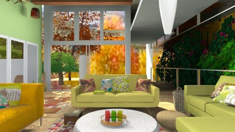 A Leafy Balcony Lounge - Country - Living room  - by Interiors by Elaine