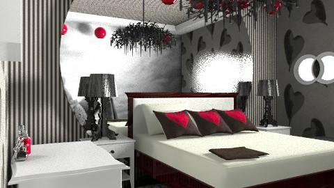 blk/red - Modern - Bedroom  - by decorj