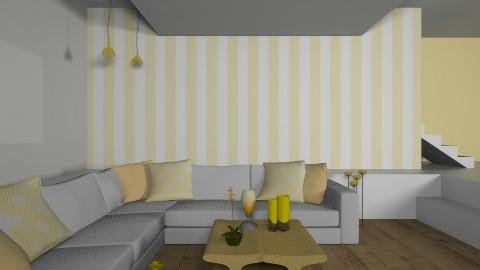 Yellow Living Room - Retro - Living room  - by deleted_1626620177_ValeskaStieg