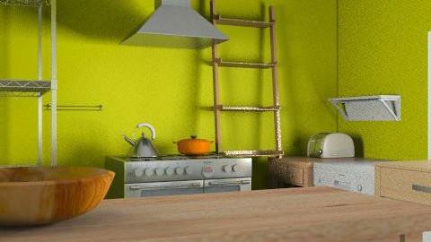 kitchen layout- detailed - Minimal - Kitchen  - by cindredm05