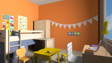 Kids Orange - Eclectic - Kids room  - by Julia Syrykh