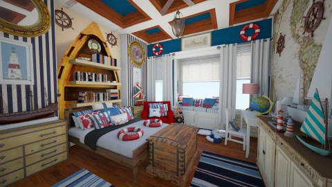 Sea bedroom - Bedroom  - by maja97