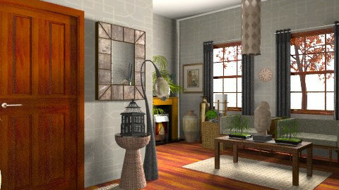 Earthy Living/Entry - Eclectic - Living room  - by deepthinker