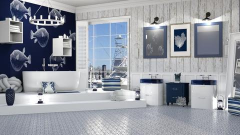 DOWN BY THE SEA - Rustic - Bathroom  - by RS Designs