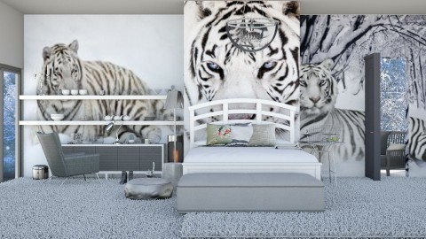 Snow Tiger - Modern - Bedroom - by InteriorDesigner111