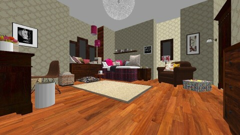 Arias bedroom PLL - Vintage - Bedroom  - by mariaa23st